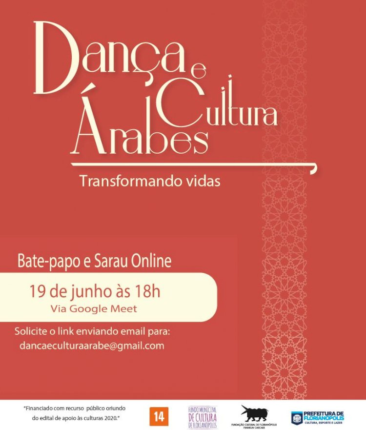 Sarau e bate-papo do projeto Dança e Cultura Árabes