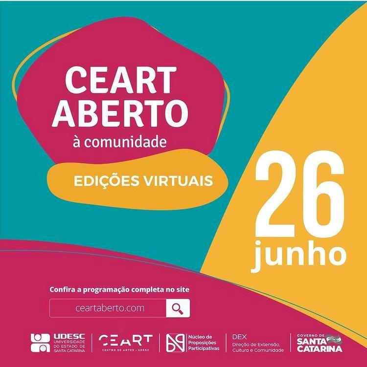 Udesc realiza 3ª e última edição virtual do semestre do Ceart Aberto à Comunidade no sábado