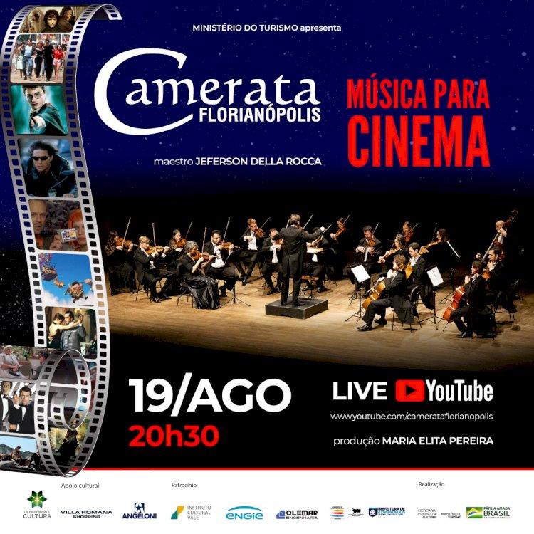 Camerata Florianópolis faz live de músicas para cinema